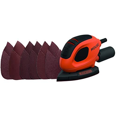 BLACK+DECKER 55 W Detail Mouse Electric Sander with 6 Sanding Sheets, BEW230-GB - £20 @ Amazon