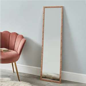 Dunelm Rose Gold Full Length Rectangle Mirror H 120cm x W 30cm - £5 (Free Collection in Limited Locations) @ Dunelm