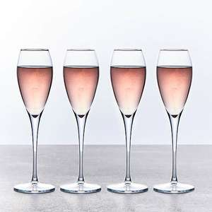 Set of 4 Champagne Flutes £5 (Free Collection) @ Dunelm