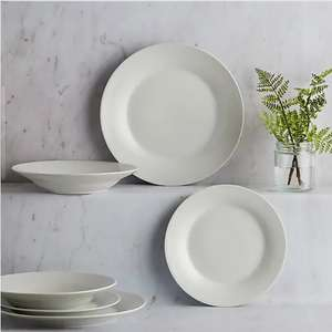 White Rim 12 Piece Dinner Set - £10 (Free Click and Collect available or £3.95 delivery) @ Dunelm