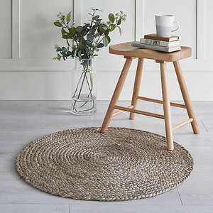 Lula Jute Circle Rug now £10.50 (In Very Limited Locations) @ Dunelm