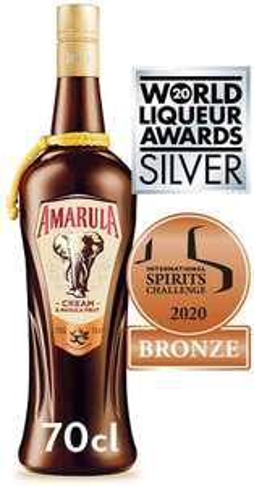 Amarula Cream Liqueur, 70cl £12.50 (+£4.49 non-prime) @ Amazon