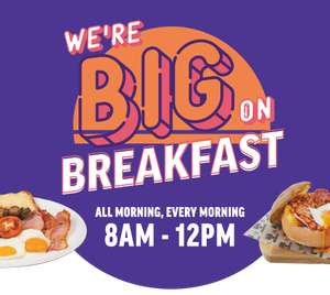 Free Breakfast When You Wear Your Pyjamas (Friday 11th June to Sun 13th June) 50 free participating breakfasts per site @ Hungry Horse