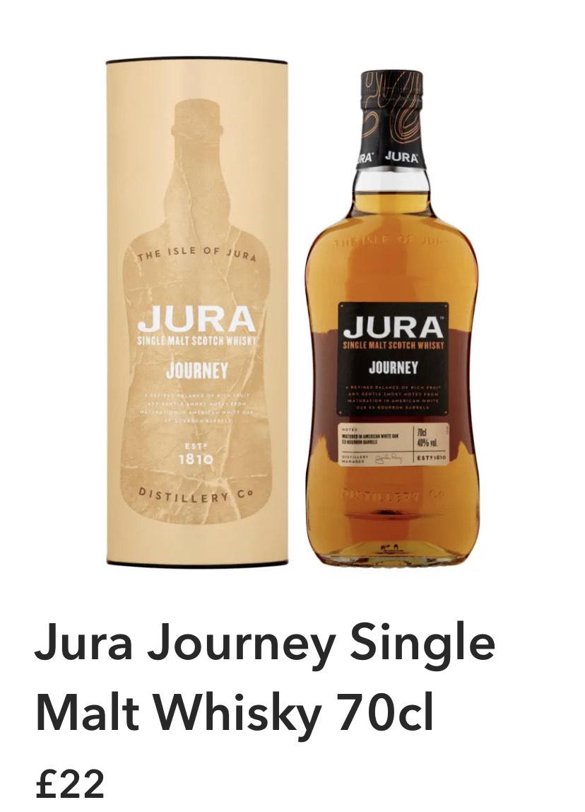 Jura Journey 70cl £22 in Co-op
