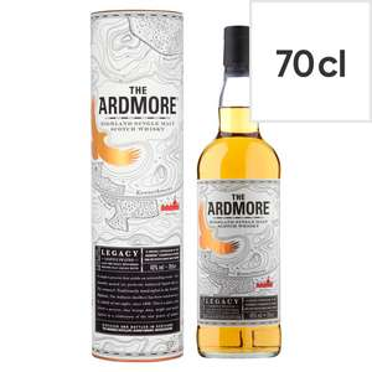 Ardmore Legacy Single Malt (Smoky) Whisky 70cl £20 at Tesco