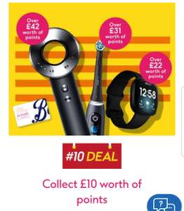 £10 worth of points for every £60 spend on selected electrical beauty & Fitbit Save up to1/2 price on electrical dental Hair Styling @ Boots