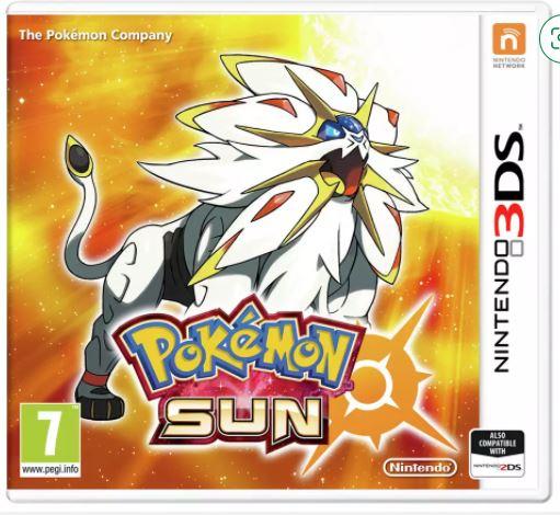Pokemon Sun Nintendo 3DS Game - £11.99 Free Click & Collect @ Argos