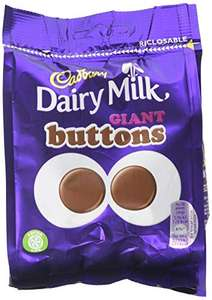 Cadbury Dairy Milk Giant Chocolate Buttons Bag, 95 g, Pack of 10 - £7.98 (Prime) + £4.49 (non Prime) at Amazon