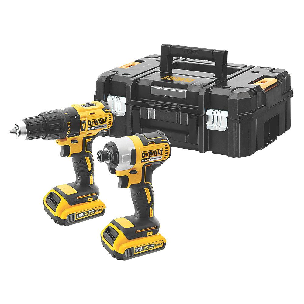 DeWalt DCK2060D2T-SFGB 18V 2.0AH LI-ION XR Brushless Cordless Combi Drill @ Impact Driver Twin Pack - £179.99 delivered @ Screwfix
