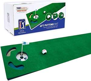 PGA Tour 6ft Putting Mat with Guide Ball, Ball Alignment Tool and Training DVD £7.35 Prime (+£4.49 Non-Prime) @ Amazon