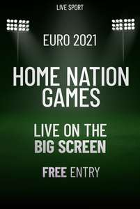 Free cinema tickets for England's Euro 2021 game against Croatia this Sunday 1:45pm at Showcase Cinemas