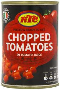 KTC Tomatoes Chopped 400g (Pack of 12) £4.20 (+£4.49 nonPrime) at Amazon