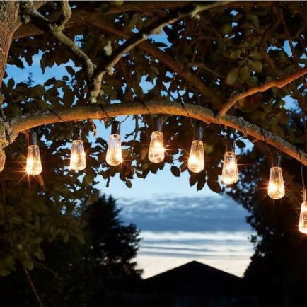 3 for 2 on solar lights (e.g. 3 x Solar Lightbulb String Lights set of 10 for £25.89 click & collect) @ Homebase
