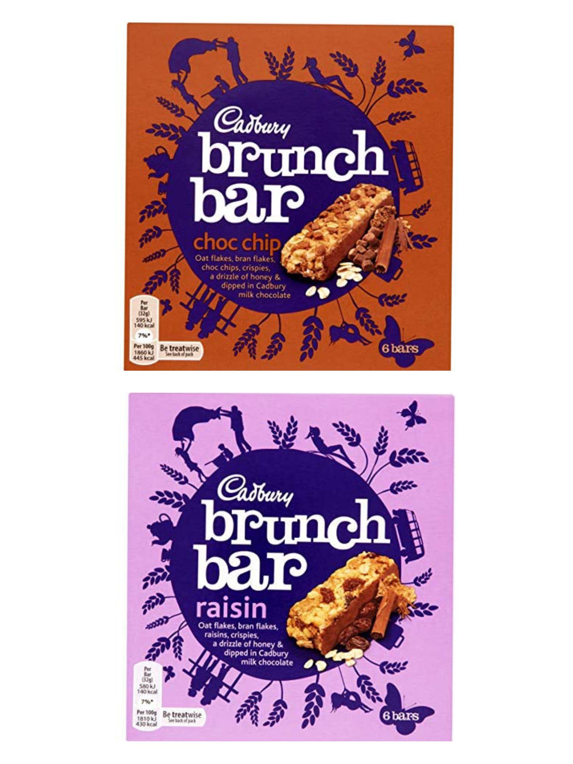 Cadbury Brunch Bar Chocolate Chip/Raisin 6 x 32g - 99p Prime / +£4.49 non Prime @ Amazon
