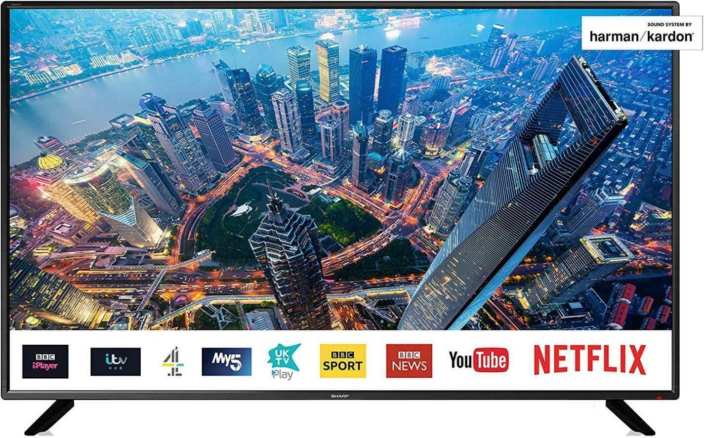 """Sharp 50BJ2K 50"""" 4K Ultra HD Smart - £289 delivered using code @ box-deals / eBay"""