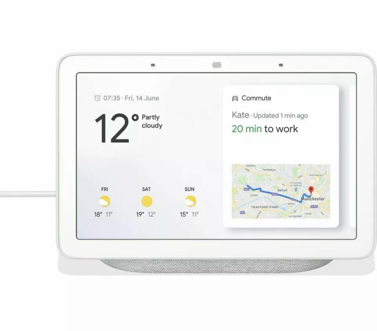 """Google Nest Hub - 7"""" Smart Display - 12 Month Warranty - £39.96 delivered using code @ RedRockUK / eBay"""