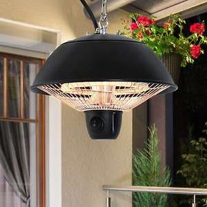 Outsunny Patio Ceiling Heater Hanging Halogen Hook Chain Black 600W £35.99 Delivered using code @ eBay / outsunny