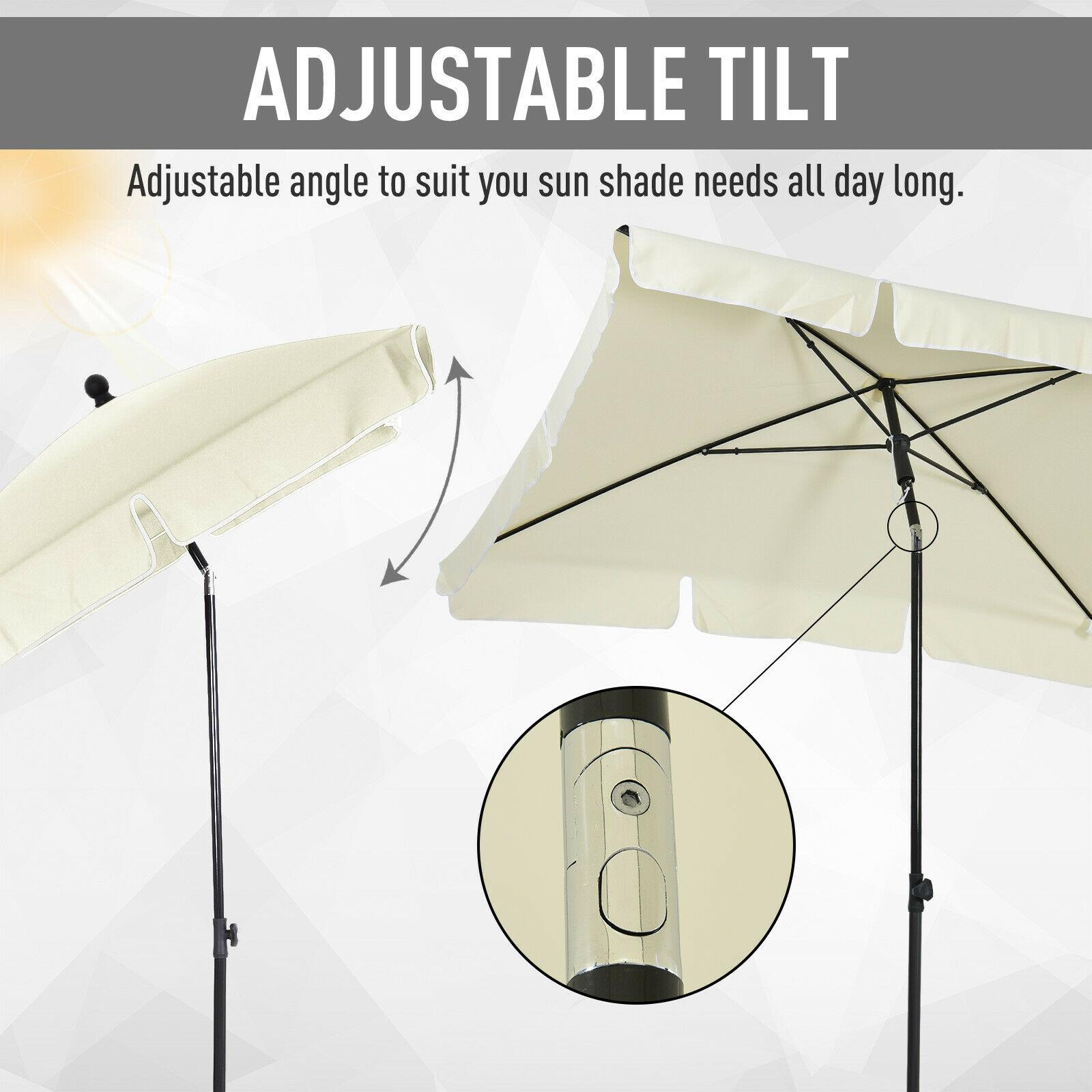 Outsunny Sun Shade Umbrella Parasol Patio Tilt Aluminium Cream White 2x1.25M - £27.99 using code @ eBay / Outsunny (UK Mainland)