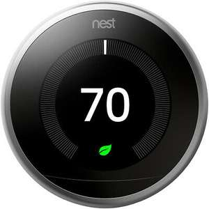 Google Nest Learning Thermostat, 3rd Generation, Black - £151.20 delivered with code @ AO eBay (UK MAINLAND)
