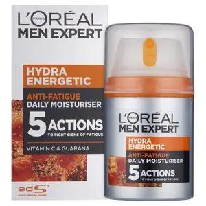 L'Oreal Men Expert Hydra Energetic Moisturiser 50ml - £3.81 + Free Click & Collect @ Superdrug
