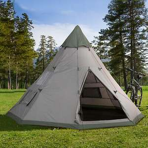 Outsunny 6-7 Person Large Family Tipi Tent £103.99 with code Delivered Free( Mainland UK) From Outsunny/ eBay