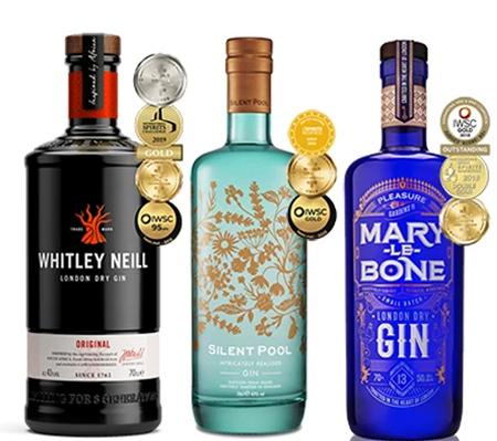 World Gin day bundle - Whitley Neill Original London Dry, Silent Pool & Marylebone London Dry Gin - £50 (UK Mainland) The Drop Store