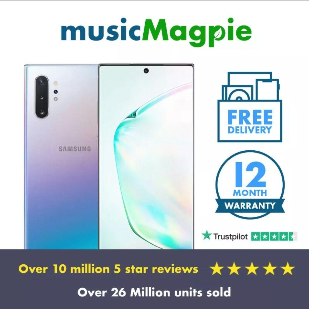 Samsung galaxy note 10+ 5G - 512GB - Aura Black - Good condition - £335.99 delivered using code @ Music Magpie / eBay (UK Mainland)