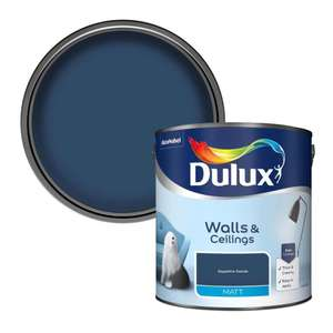 Buy More Save More on 2.5L Dulux Standard Coloured Emulsion - 2 for £30 or 3 for £42 click & collect @ Homebase