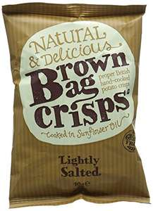 Brown Bag Crisps Lightly Salted 40 g (Pack of 20) £5.20 + £4.49 Non-Prime @ Amazon