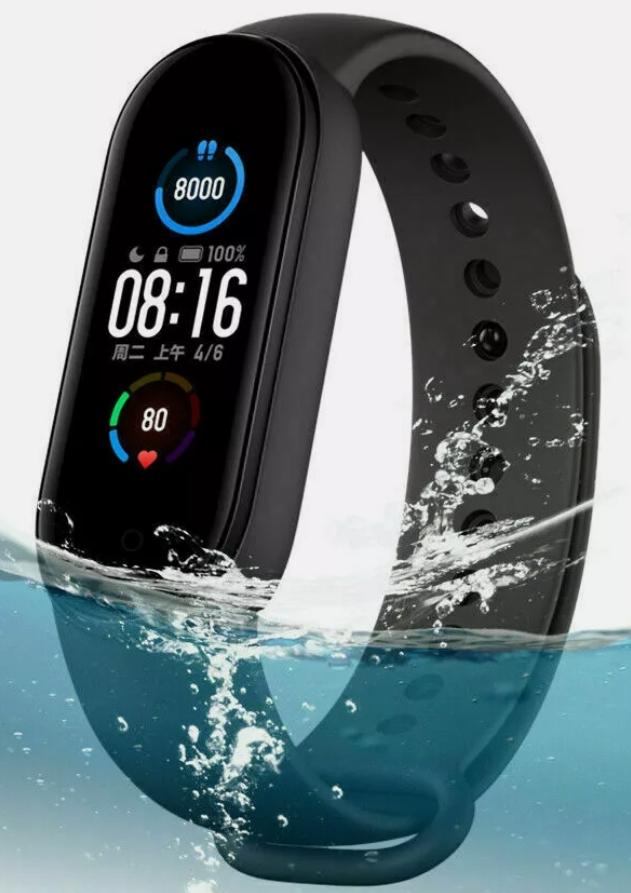 Xiaomi Mi Band 5 AMOLED Smart Fitness Watch Heart Rate 5 ATM Waterproof GLOBAL - £19.91 @ centu_2015 / Ebay