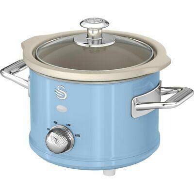 Swan SF17011BLN Retro Slow Cooker 1.5 Litres 120 Watt Blue £13.60 using code - UK Mainland @ AO / Ebay