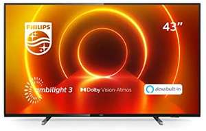 Philips 43PUS7805/12 43-Inch 4K TV with Ambilight and Alexa Built-In £319 (UK Mainland) @ AO / eBay