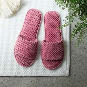 Pink/Grey Waffle Open Toe Sliders £3 Free click and collectat Limited Locations @ Dunelm