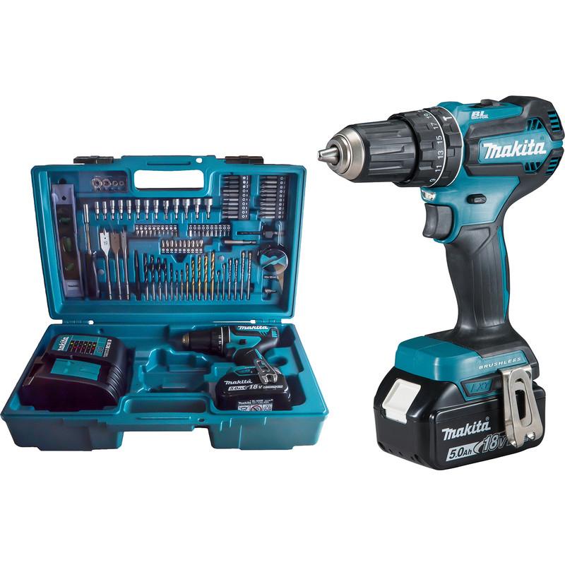 Makita 18V LXT Brushless Combi Drill & Accessory Kit 1 x 5.0Ah £189.98 @ Toolstation