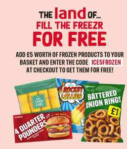 Get £5 worth of frozen products free - Available to new customers only with code @ Iceland