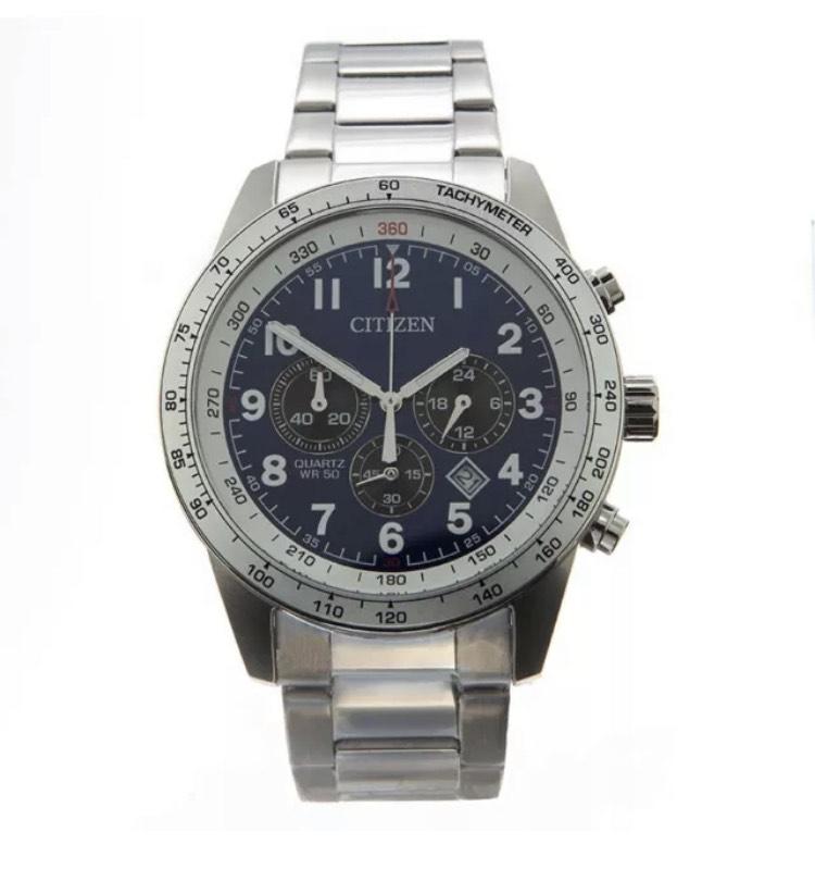 Citizen Men's Watch Silver Blue Quartz Chronograph AN8160-52L £76 @ hogiesonline eBay