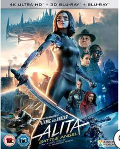 Alita Battle Angel - 4K Ultra HD (Includes 3D and 2D Blu-ray) £11.99 / £10.79 For Red Carpet members + get a FreeTree planted @ Zavvi