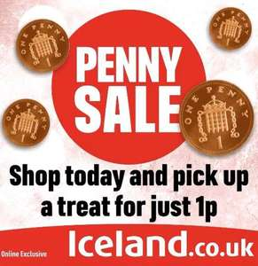 Penny Sale - Choose one product from selection and use code. Minimum spend required @ Iceland
