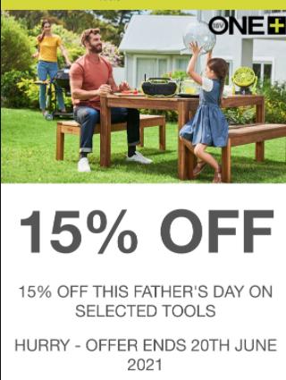 15% off selected Ryobi tools voucher @ Ryobi