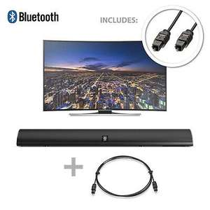 120W TV Sound Bar Bluetooth 2 Channel Optical Audio Wall Mountable refurb £27.55 delivered with code @ velocityelectronics eBay