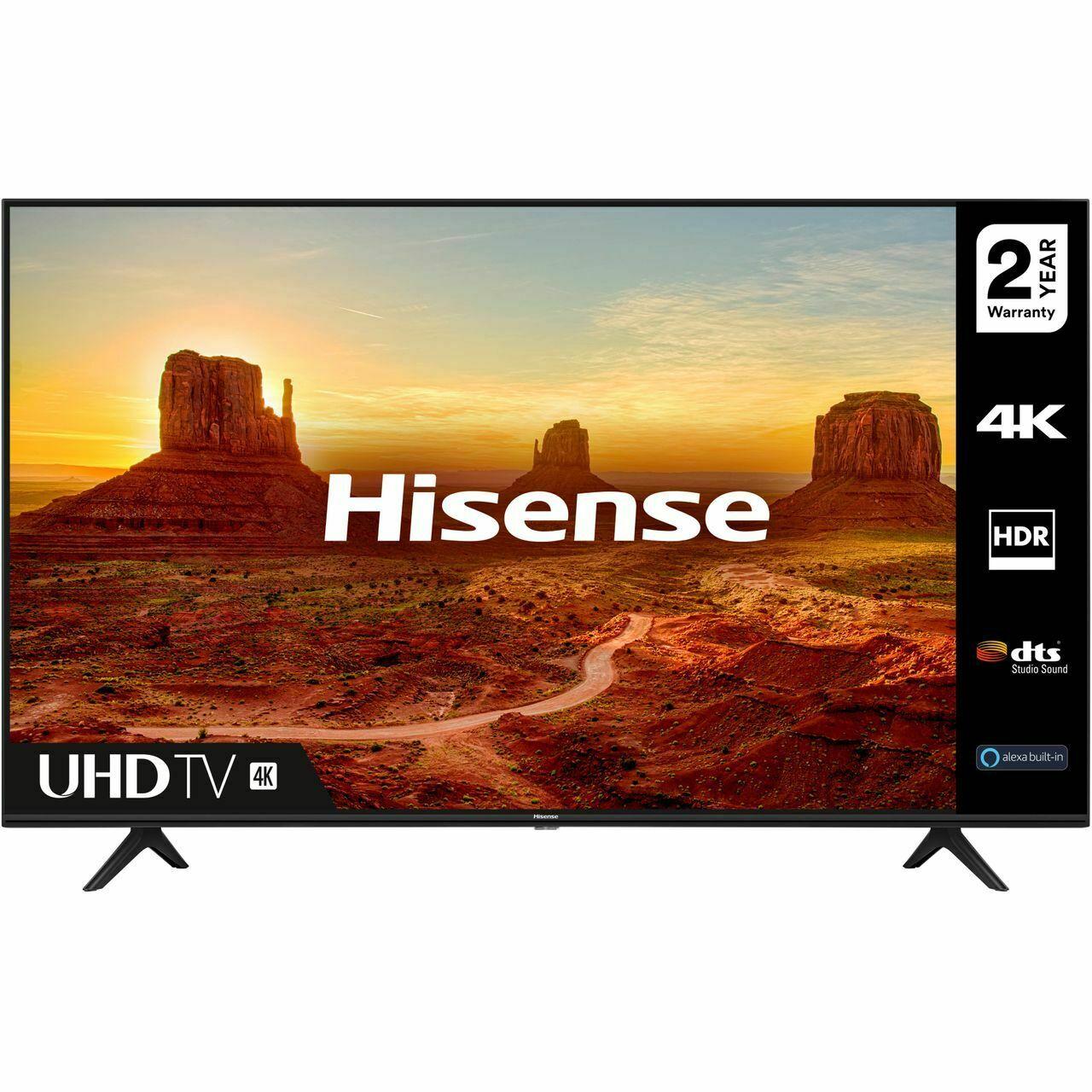 Hisense 50A7100FTUK 50 Inch TV Smart 4K Ultra HD - £319 delivered using code @ AO / eBay