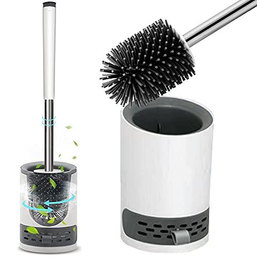 Silicone Soft Bristle Toilet Brush + Holder £6.64 Prime (+£4.49 Non-Prime) @ Amazon