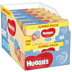 (10x56pk) x 2 Huggies pure wipes Cases £10 instore @ Farmfoods