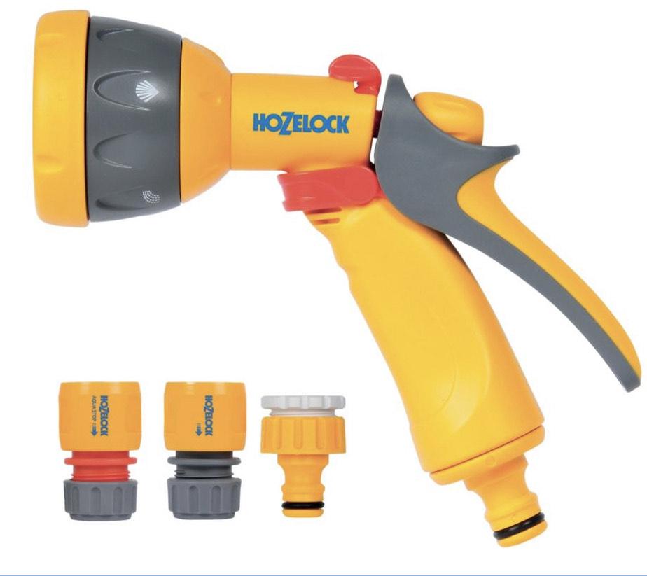 Hozelock Garden Hose Pipe Multi Spray Gun Starter Set £10 Free click and collect @ Wickes