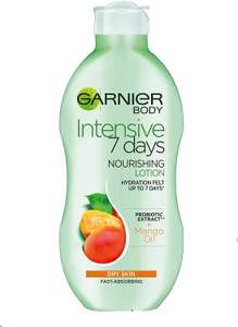 Garnier Intensive 7 Days Mango Oil and Probiotic Extract Body Lotion, 400ml - 87p instore @ Asda, Caerphilly