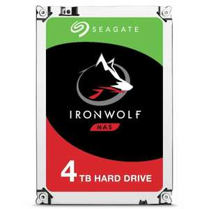 Seagate IronWolf 4TB NAS Internal Hard Drive/HDD, £86.63 delivered with code at Ebuyer / eBay