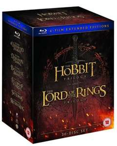 Middle Earth Six Film Collection Extended Edition (Blu-ray) 30 Discs £46.79 delivered with code (20% off at checkout) @ Warner Bros