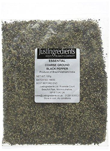 JustIngredients Black Pepper Coarse Ground 100 g - Pack of 5 - £3.03 Prime (+£4.49 non Prime) @ Amazon.