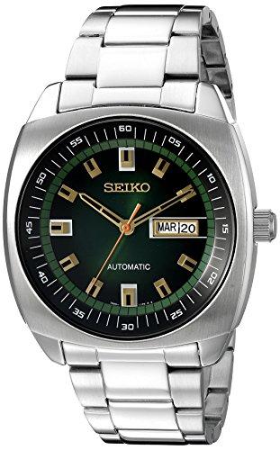 Seiko Men's SNKM97 Analog Green Dial Automatic Silver Stainless Steel Watch £90.07 @ Amazon