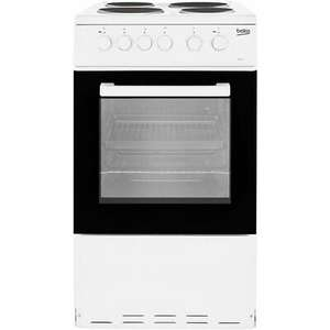 Beko KS530W Electric Cooker with Solid Plate Hob 50cm White - £151.20 delivered with code @ AO / ebay